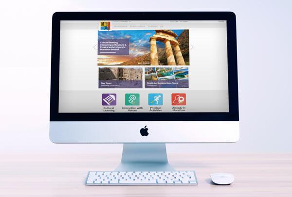 Marathon Τraveller Web Design - UI /UX