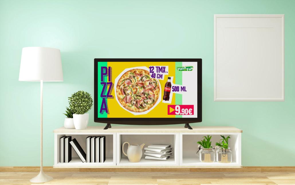 Pizza Fan Coca Cola TV Commercial